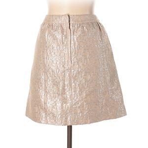 LOFT Skirts - Ann Taylor LOFT Metallic Peach Skirt